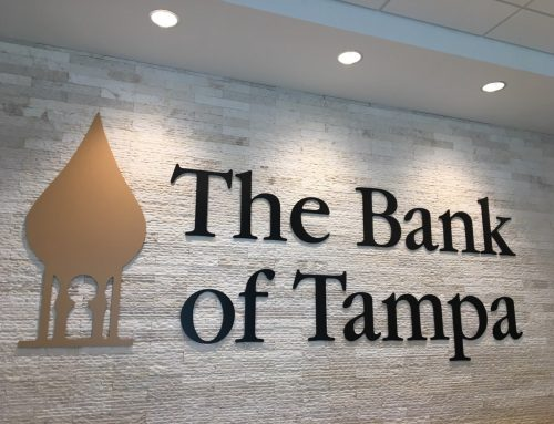 Indoor Signage – Custom Logo for Bank of Tampa